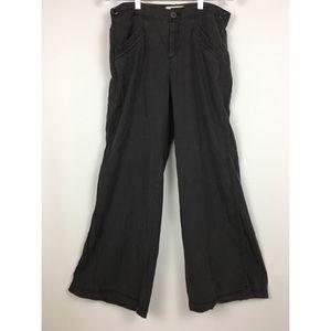 Anthropologie Hei Hei Linen Wide Leg Pants 10 Gray